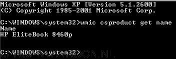 WMI computer name command