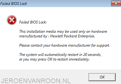 Windows Server 2016 HP Server OEM bios lock - JeroenvanRoon nl